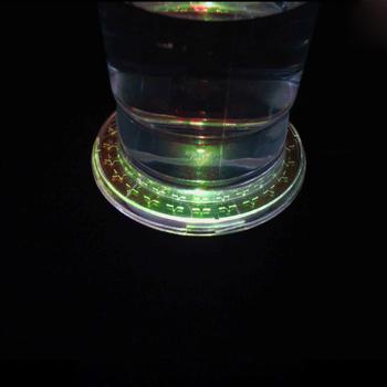 CD Shape LED Light Coaster