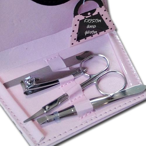 Polka Dot Purse Shape Manicure Set