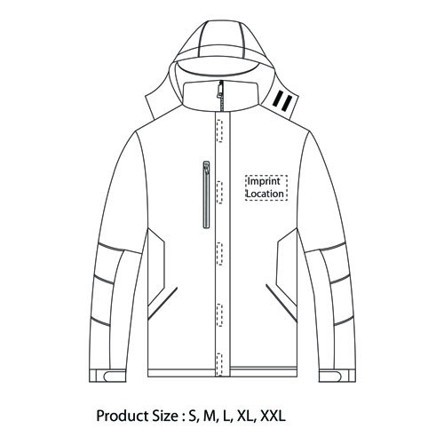 3 In 1 Outdoor & Sking Jacket Imprint Image