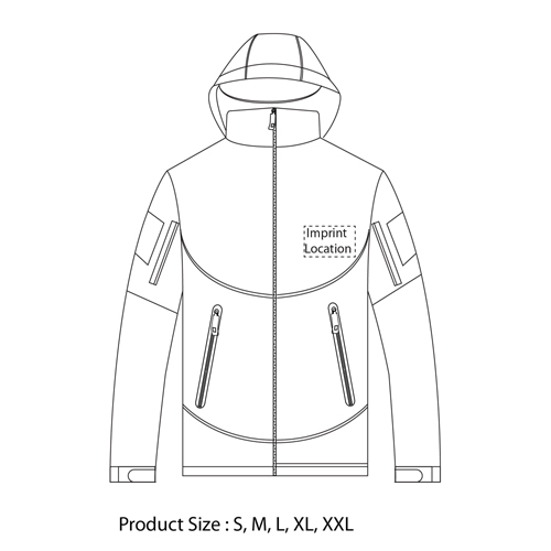 Soft Shell Outdoor Tactical Jacket Imprint Image