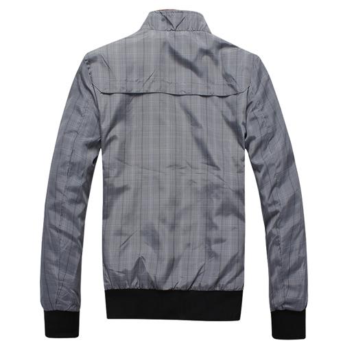 Mens Plaid Waterproof Casual Jacket