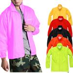 Stand Collar Windbreaker Polyester Jacket
