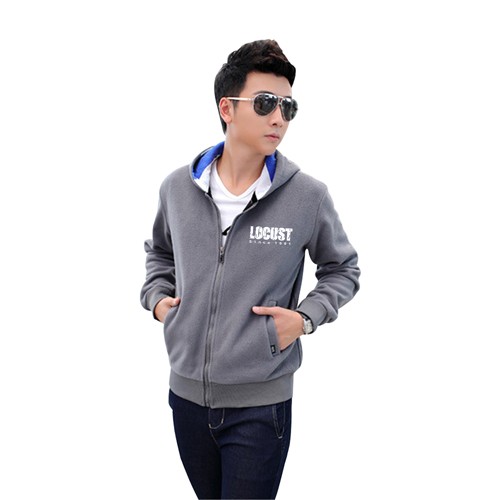 Spring Mens Fleece Hooded Sweater