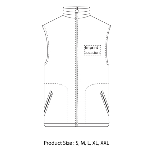 Full Zipper Sleeveless Fleece Jacket