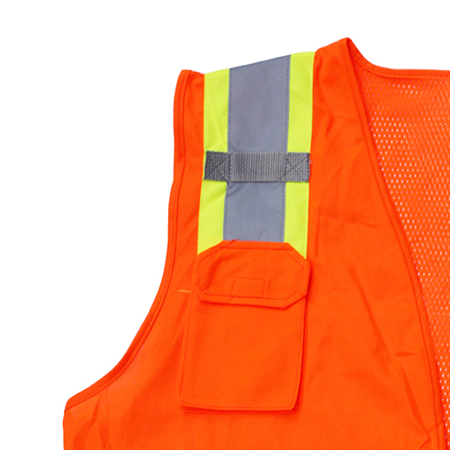 Polyester Safety Vest With Pocket Image 2