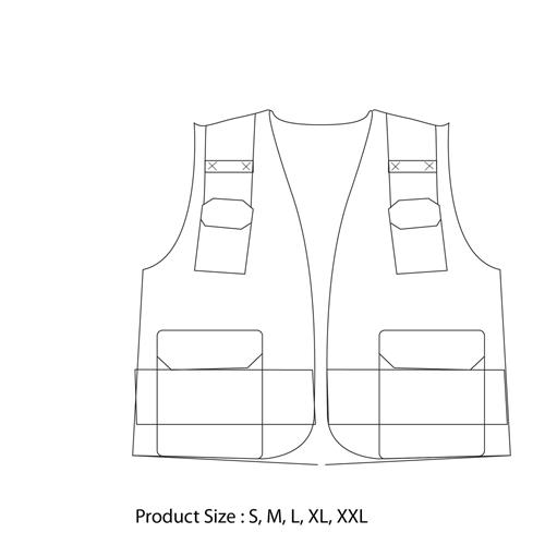 Polyester Safety Vest With Pocket