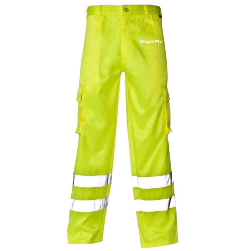 Reflective Safety Trouser With Cargo Pocket Image 1
