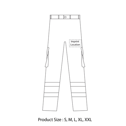 Reflective Safety Trouser With Cargo Pocket Imprint Image