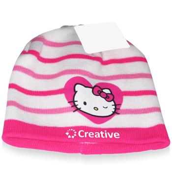 Striped Hello Kitty Winter Beanie