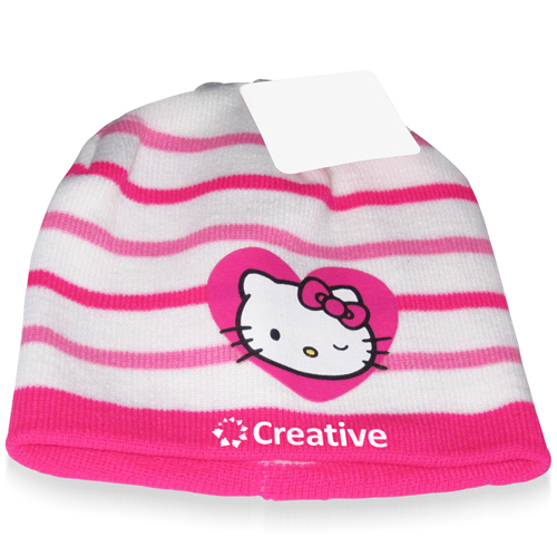Striped Hello Kitty Winter Beanie