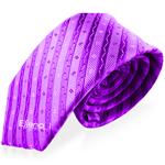 StripeMulberry Silk Necktie