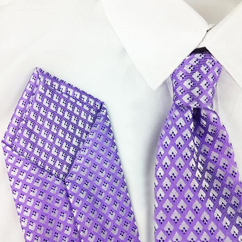 Diamond Grid Dont Silk Necktie