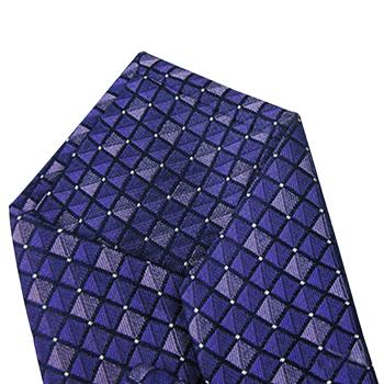 Grid-Print Classic Silk Tie