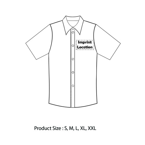 Short Sleeve Dress Shirt Imprint Image