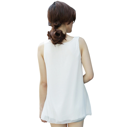 Sleeveless Loose Chiffon Top