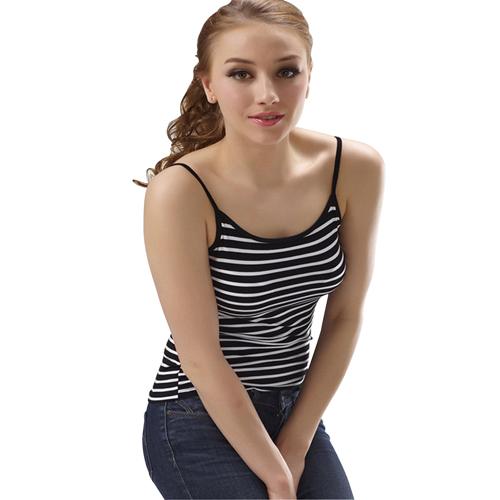 Sleeveless Striped Cami Vest