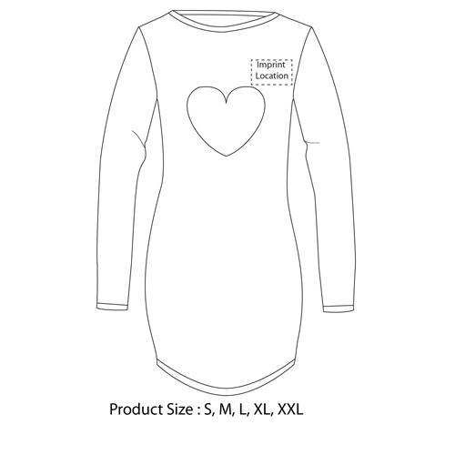 Heart Pattern Long Sleeve Cotton Pajama