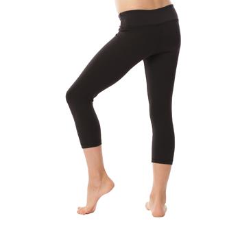 Cotton Spandex Cropped Yoga Pants