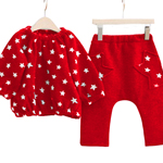 Star Pattern Cotton Children Suit