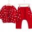 Star Pattern Cotton Children Suit