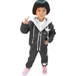Kids Fleece Sweater With Drawstring Hood