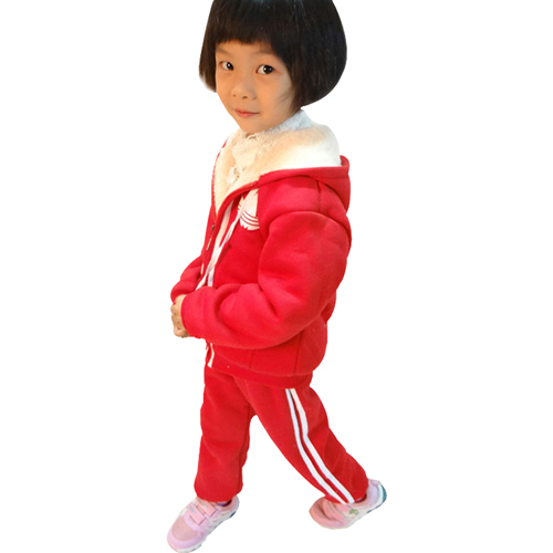 Kids Fleece Sweater With Drawstring Hood