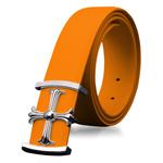 Steel Cross Leather Waist Belt
