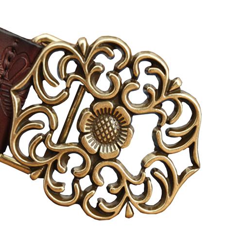 Flower Retro Leather Belt