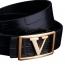V Double Sided Leather Belt