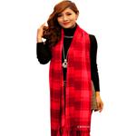 Winter Cashmere Women Plaid Scarf