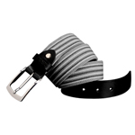 Cotton Woven Mens Leather Belt