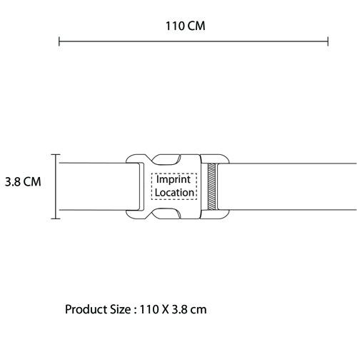 Polyester Plastic Buckle Belt