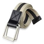 Double Square Loop Canvas Belt