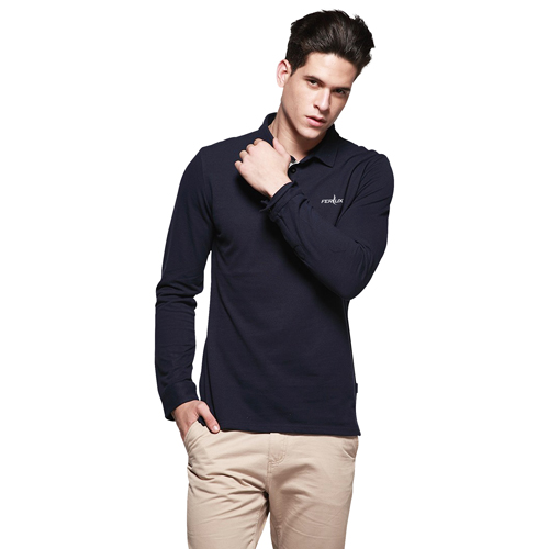Long Sleeve Polo Shirt Image 1