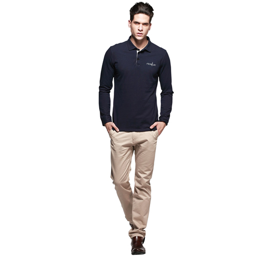 Long Sleeve Polo Shirt Image 3
