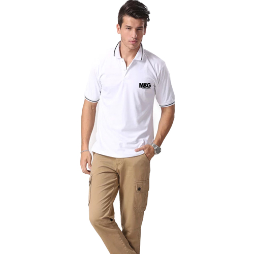 Mens Cotton Tipped Polo T-Shirt