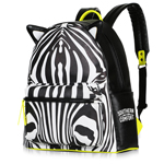 Zebra Skin Print School Bag