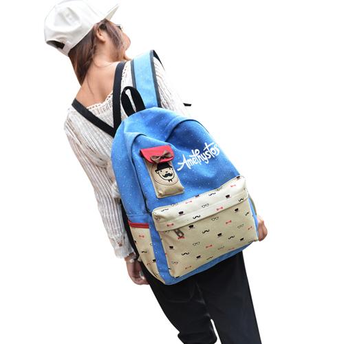 Canvas Happy School Bag