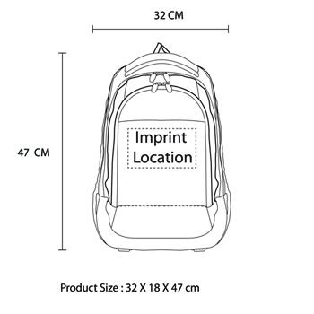 Padded Nylon Laptop Backpack