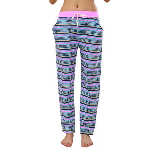 Ladies Striped Cotton Sweatpants