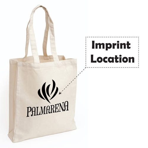 Eco Natural Canvas Bag Imprint Image