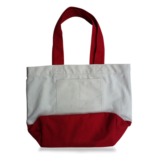 Large Thick Canvas Tote With Pocket