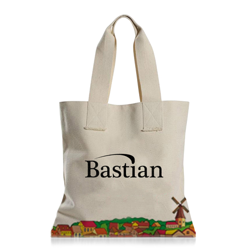 Eco Cotton Canvas Shopping Tote Bag