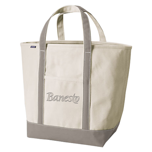 Open Top Canvas Shopper Tote