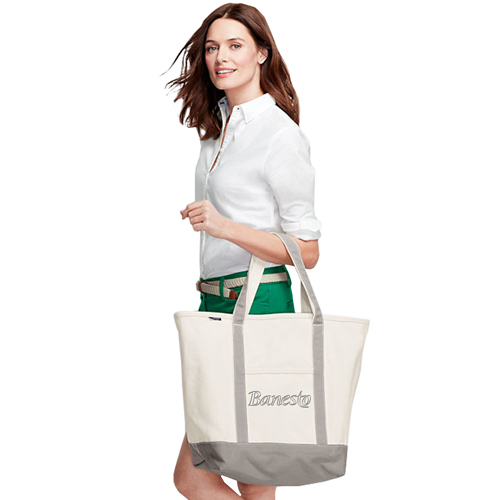 Open Top Canvas Shopper Tote Image 2
