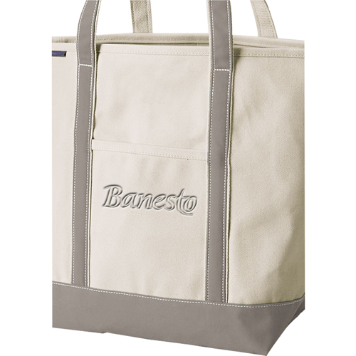 Open Top Canvas Shopper Tote Image 3