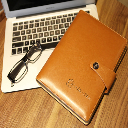Leather Cover Jotter With 80 Sheet Paper Image 9