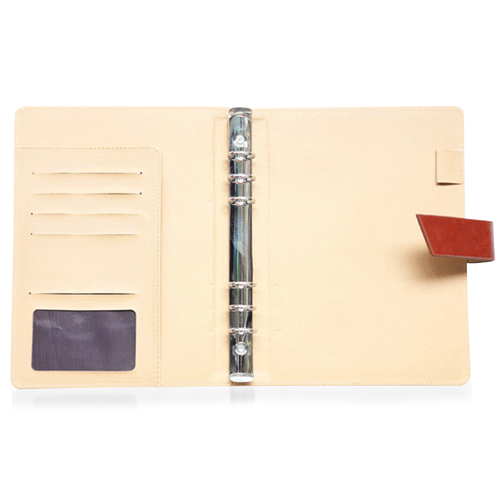Leather Cover Jotter With 80 Sheet Paper Image 10