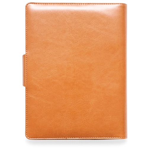 Leather Cover Jotter With 80 Sheet Paper Image 1