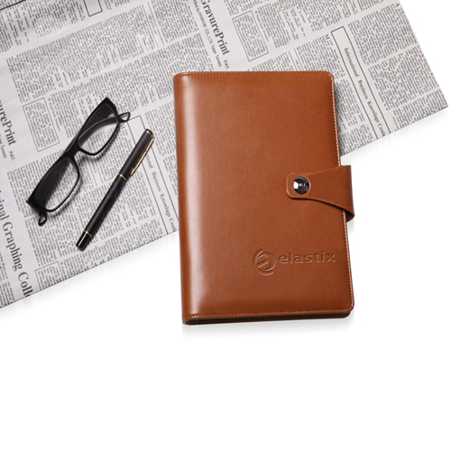 Leather Cover Jotter With 80 Sheet Paper Image 3